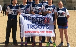 TWENTY NINE SOLDIERS ON 'PARADE' FOR THE LONDON MARATHON TO RAISE MONEY FOR TICKETS FOR TROOPS