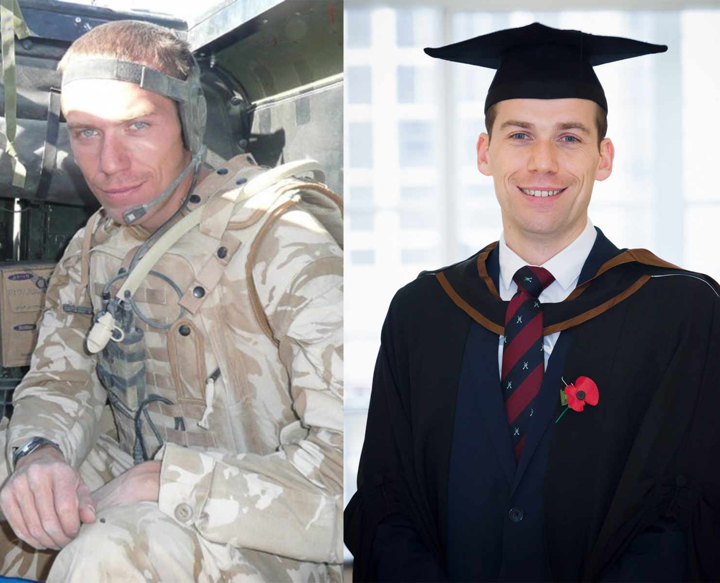 Military intelligence: former RAF gunner swaps military uniform for gown and mortar board