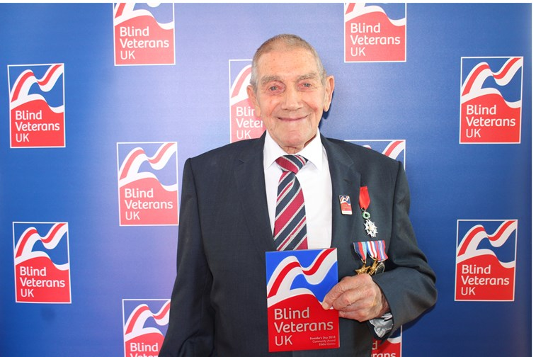 Veteran Eddie receives Blind Veterans UK Founder's Day Community Award