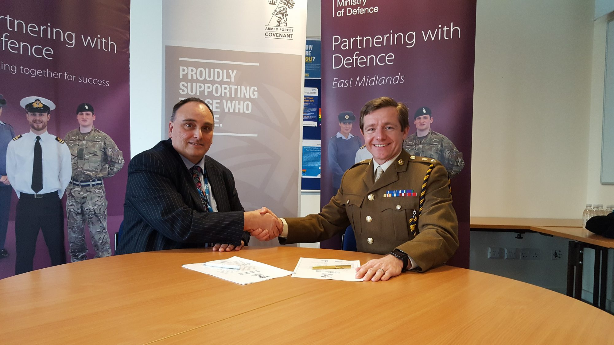Derbyshire Healthcare signs Armed Forces Covenant