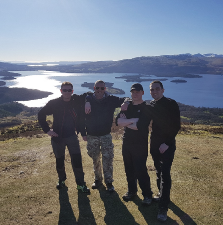 Trekking the Highland Way for the RNRMC's Twickenham 100