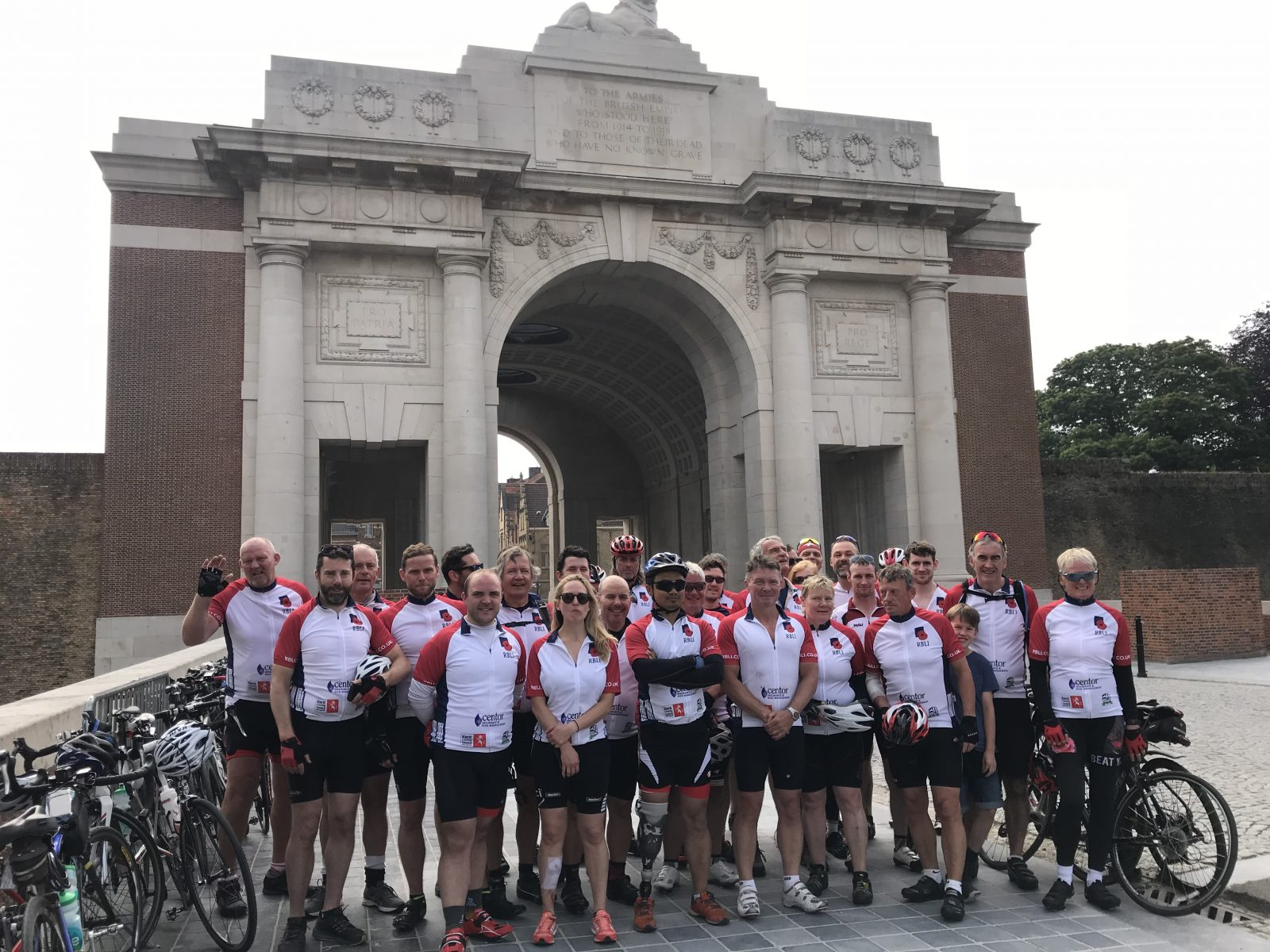 Injured war veterans help lead 150-mile cycle across Europe in WW1 remembrance for RBLI