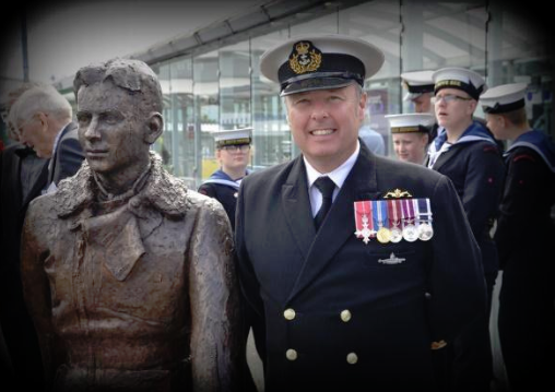 RNRMC funded statue of WWII hero Captain Eric 'Winkle' Brown unveiled at ceremony