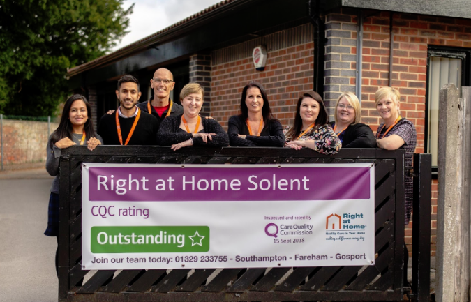 Right at Home celebrates two Outstanding ratings from the Care Quality Commission