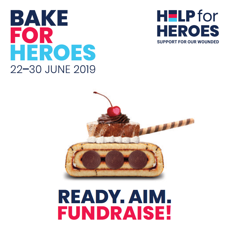 Bake for Heroes – Ready. Aim. Fundraise from 22nd-30th June 2019!
