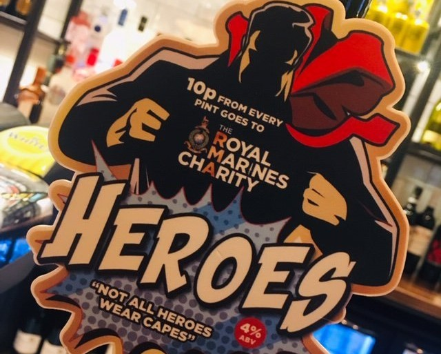 Beer brewed just for Heroes with Punch